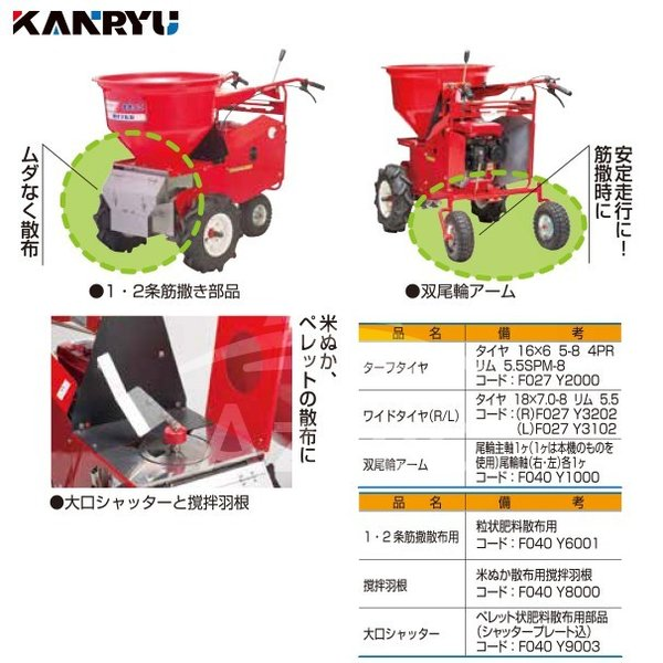 カンリウ工業|自走式肥料散布機 まきっこ MF760Wワイドタイヤ仕様|aztec|08