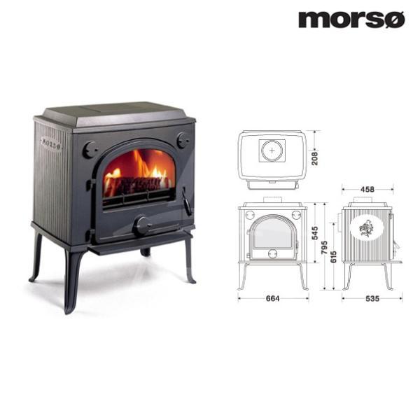 morso classic 薪ストーブ モルソー 1600シリーズ 1620CB 暖房能力100〜160m2 デンマーク製 aztec 03