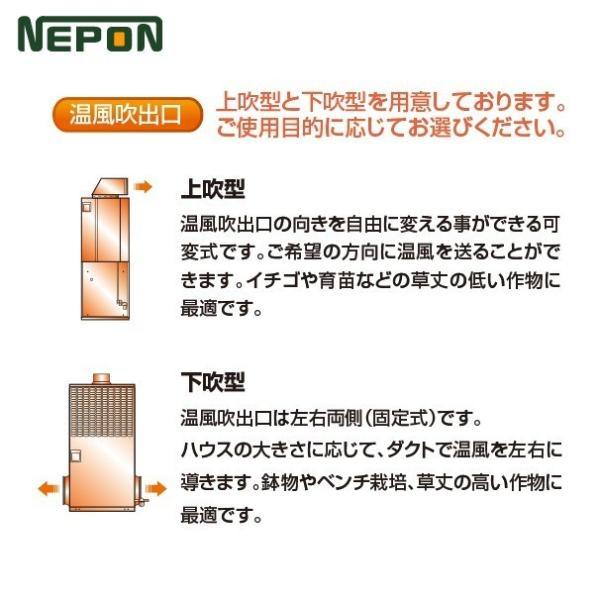 ネポン|施設園芸・ハウス用 小型温風機 上吹タイプ KA-325E AC100V 単相|aztec|04