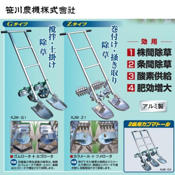 笹川農機| カブマトール KJW-Z1 1条用 カラメール+ツメロータ|aztec|02