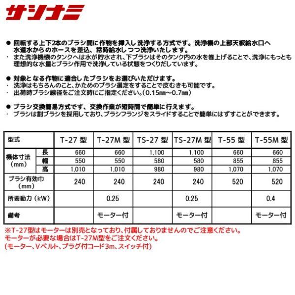 サシナミ|葉付根菜洗浄機 TS-27M モータ付 指浪製作所|aztec|02