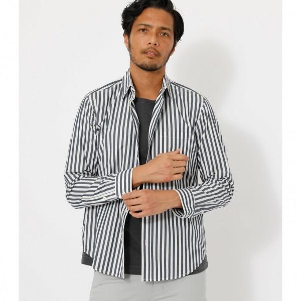 STRIPE BASIC SHIRT/ストライプベーシックシャツ /メンズ/トップス シャツ ブラウス  長袖【MARKDOWN】