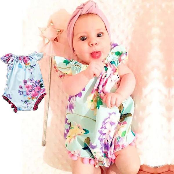 81e74c4a14f92 赤ちゃん服花柄ワンピース ベビーグッズ お祝い 子供用 お誕生日服セット 女の子 ...