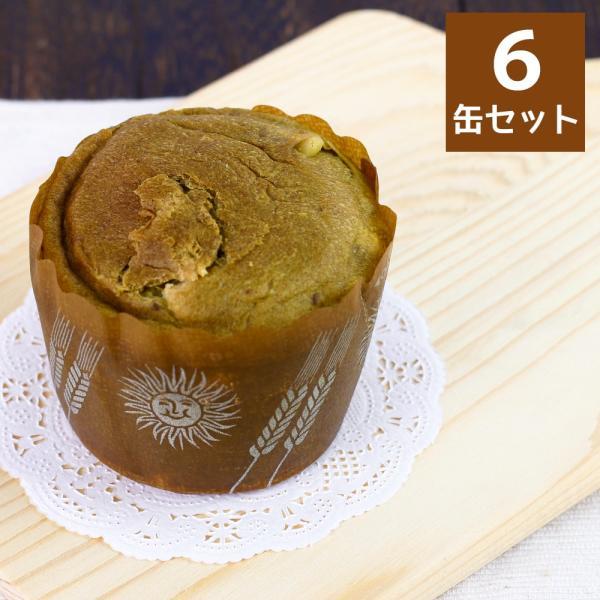 やさしい抹茶ぱん 6缶セット 缶詰 パン カップ ケーキ 非常食 携帯食 防災