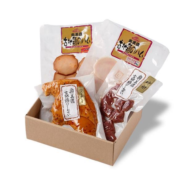 ギフト 奥美濃古地鶏ハム Aセット ハム・ハム 醤油味 むねパストラミ 砂肝燻製 ミールキット レンチン|azusaya|02