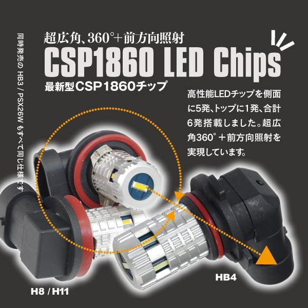 LED フォグランプ バルブ PSX26W 48W イエロー/EPISTAR ハイエース 200系 3型後期/4型 フォグ|azzurri|03
