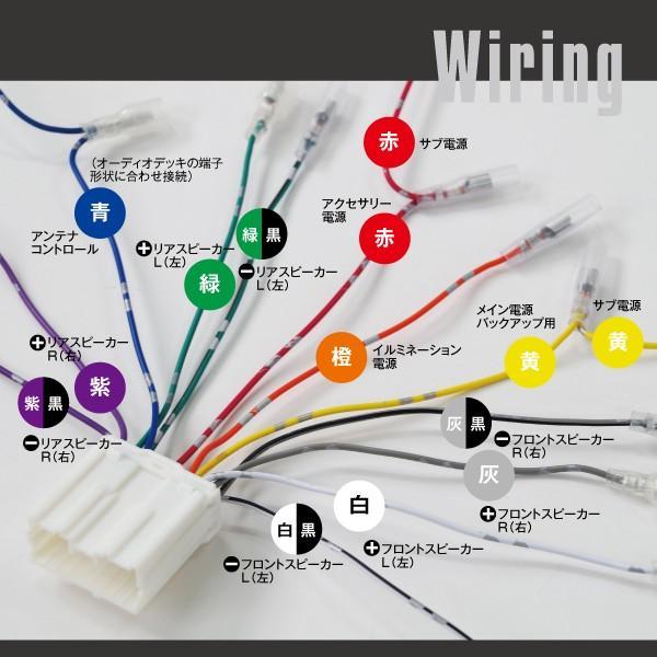 (セール) オーディオ 取付用 ハーネス 24V/トラック 14ピン オーディオ コネクター ハーネス 配線 ケーブル(ネコポス送料無料)|azzurri|05