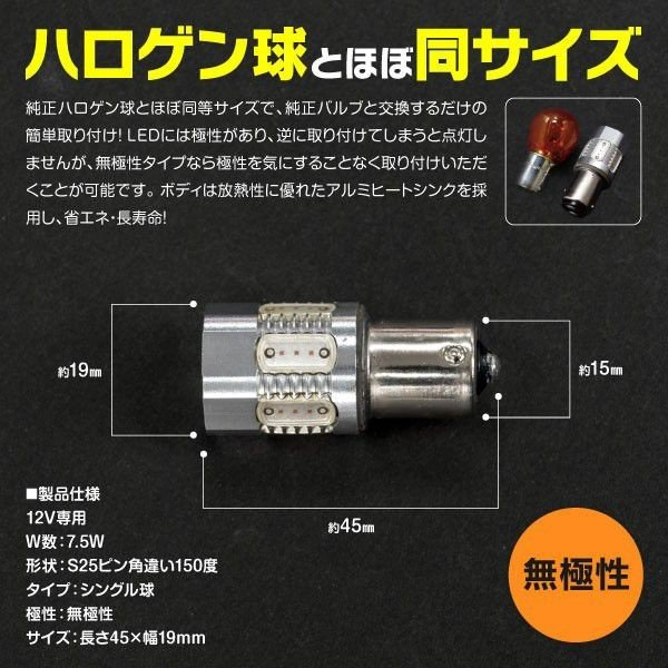 オデッセイハイブリッド H28.2〜 RC4  フロント リア ウインカー LED ハイフラ抵抗器4個+T20 2本+S25 2本|azzurri|10