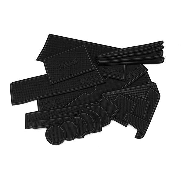 エブリィ DA17W/Vドア ポケット マット/シート 滑り止め (新型ラバーマット) ブラック 23P 車種専用設計 azzurri