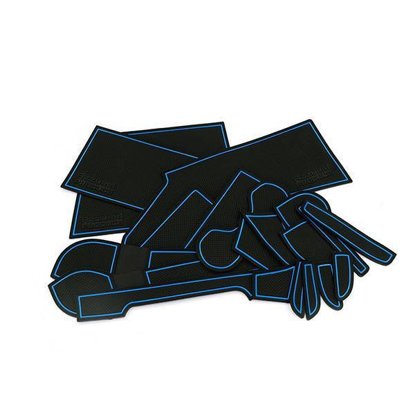 ノートeパワー HE12 ドア ポケット マット/シート 滑り止め (新型ラバーマット) ブルー 20P 車種専用設計|azzurri