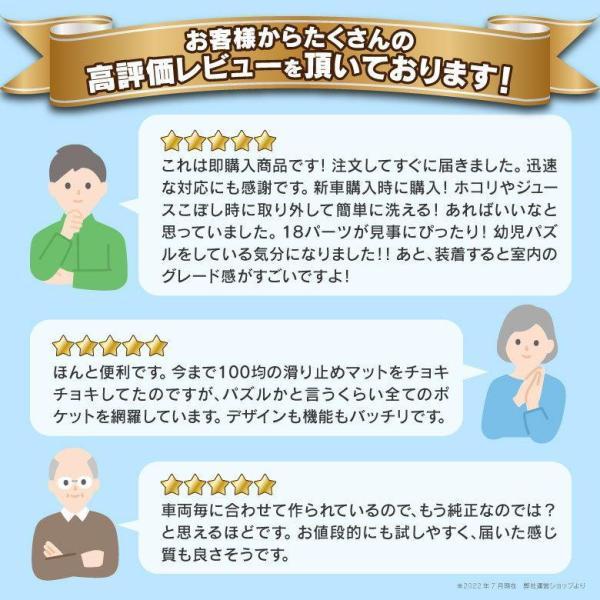 ノートeパワー HE12 ドア ポケット マット/シート 滑り止め (新型ラバーマット) ブルー 20P 車種専用設計|azzurri|05