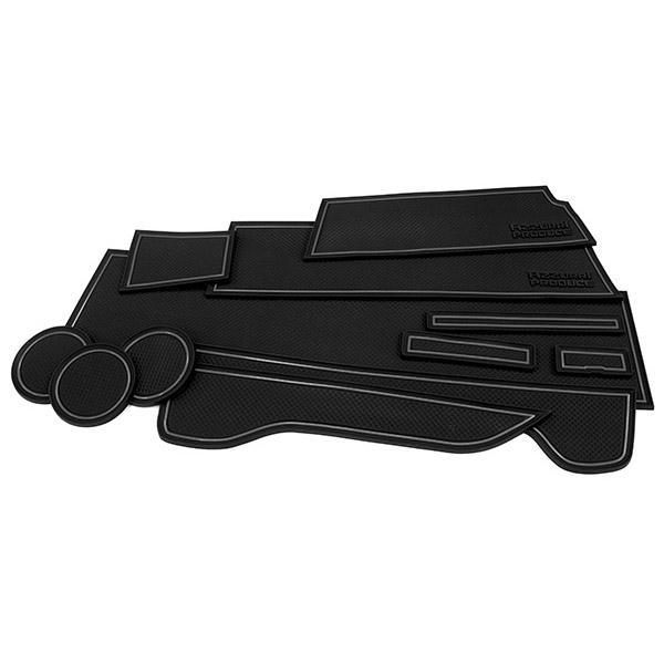 (予約) N-VAN JJ1/2型 ドアポケットマット/シート 滑り止め (新型ラバーマット) ブラック 12P 車種専用設計