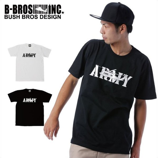BUSH BROS DESIGN(ブッシュブロスデザイン) 半袖 Tシャツ ARMY S/S TEE(BBD-SS004) ストリート系 B系 大きいサイズ|b-bros