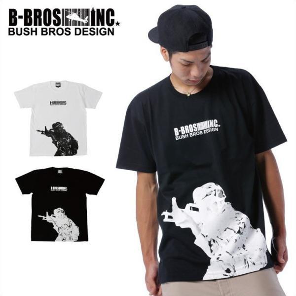 BUSH BROS DESIGN(ブッシュブロスデザイン) 半袖 Tシャツ TARGET S/S TEE(BBD-SS007) ストリート系 B系 大きいサイズ|b-bros