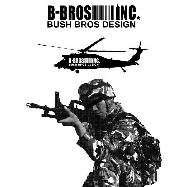 BUSH BROS DESIGN(ブッシュブロスデザイン) 半袖 Tシャツ TARGET S/S TEE(BBD-SS007) ストリート系 B系 大きいサイズ|b-bros|04