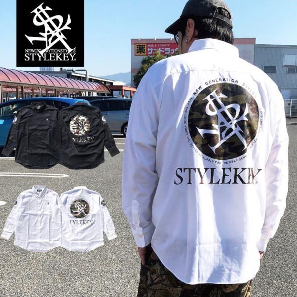 STYLEKEY(スタイルキー) 長袖シャツ SCOPE OXFORD L/S SHIRT(SK17HO-BL01) ストリート系 B系 大きいサイズ|b-bros