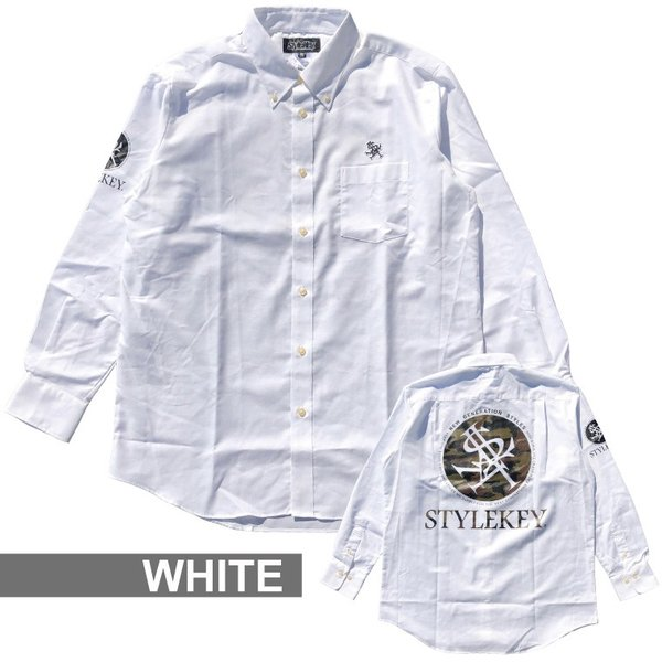STYLEKEY(スタイルキー) 長袖シャツ SCOPE OXFORD L/S SHIRT(SK17HO-BL01) ストリート系 B系 大きいサイズ|b-bros|03