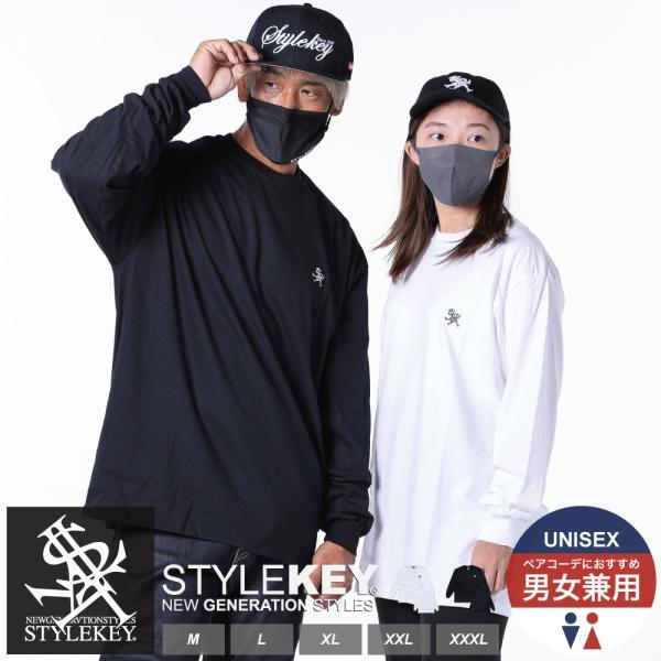 STYLEKEY(スタイルキー) 長袖Tシャツ ROYAL POINT L/S TEE(SK18HO-LS02) ストリート系 B系 大きいサイズ b-bros