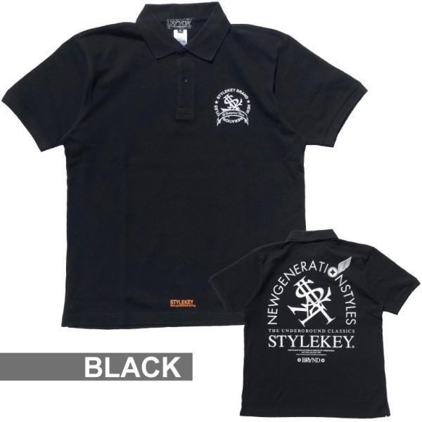 STYLEKEY スタイルキー ポロシャツ ARCADE 鹿の子 S/S POLO(SK18SP-PL02) ストリート系 B系 大きいサイズ|b-bros|02