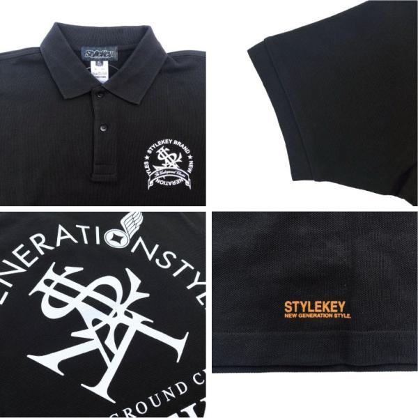 STYLEKEY スタイルキー ポロシャツ ARCADE 鹿の子 S/S POLO(SK18SP-PL02) ストリート系 B系 大きいサイズ|b-bros|04