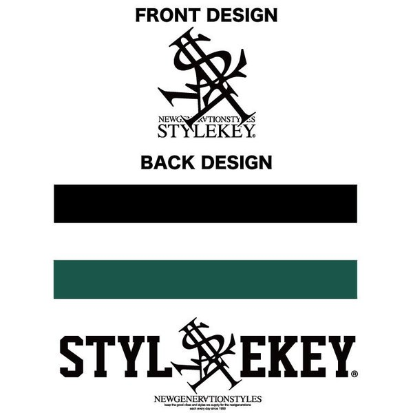 STYLEKEY スタイルキー 半袖ジップスウェットパーカー STATE S/S ZIP HOOD SWEAT(SK18SP-SWJK01) ストリート系 B系 大きいサイズ|b-bros|04