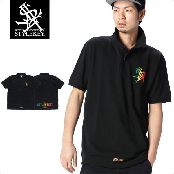 STYLEKEY スタイルキー ポロシャツ RASTA ROYAL 鹿の子 S/S POLO(SK18SU-PL01) ストリート系 B系 大きいサイズ b-bros