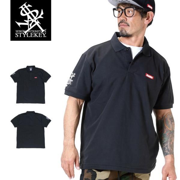 STYLEKEY スタイルキー ポロシャツ SMART BOX 鹿の子 S/S POLO(SK19SU-PL01) ストリート系 B系 大きいサイズ b-bros