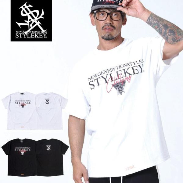 STYLEKEY スタイルキー 半袖Tシャツ TRIAL S/S TEE(SK19SU-SS05) ストリート系 B系 大きいサイズ|b-bros