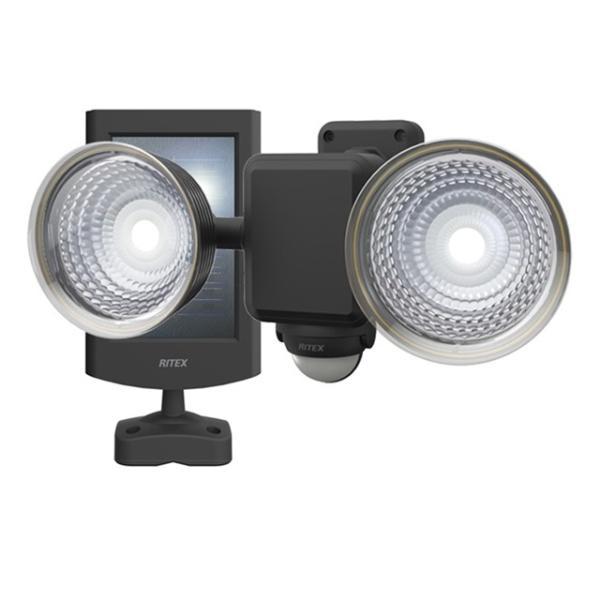 1.3W×2灯 フリーアーム式LEDソーラーセンサーライト S-25L 屋外 階段 玄関 照明 防犯 常夜灯 自動点灯 屋外 防水 LED 自動消灯 玄関ライト 防犯ライト