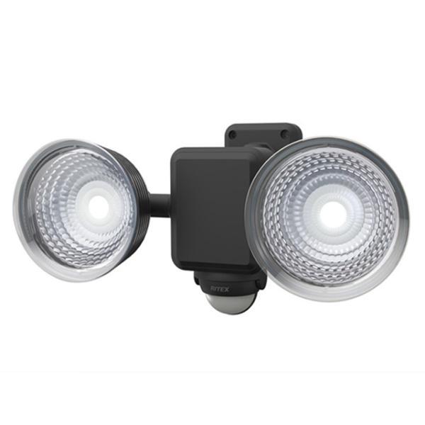 1.3W×2灯 フリーアーム式LED乾電池センサーライト LED-225 屋外 階段 玄関 照明 防犯 常夜灯 自動点灯 屋外 防水 LED 自動消灯 玄関ライト 防犯ライト