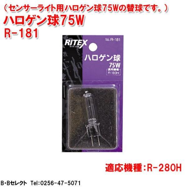 ライテックス R-181  ハロゲン替球 75W