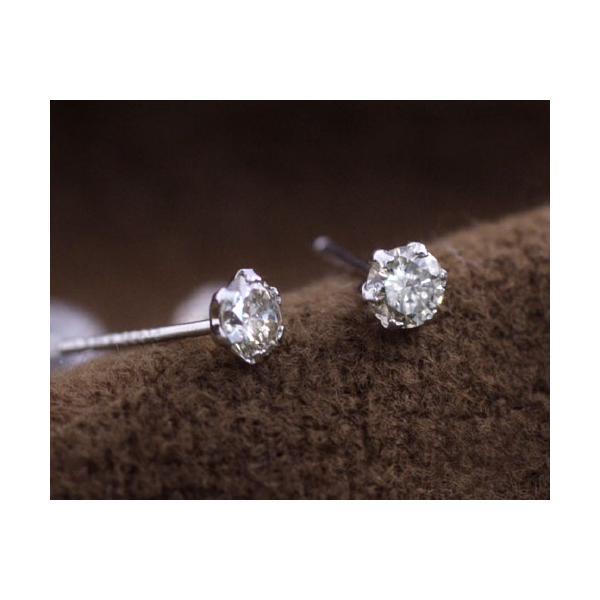 天然ダイヤモンド0.30ct プラチナ製 ティファニーセッティング スタッド ピアス国産 日本製 4月誕生石
