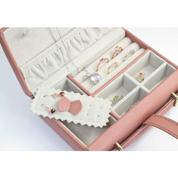 ジュエリーボックス 宝石箱 バッグ型 ジュエリーケース 旅行用 トラベル 携帯用 持ち運び アクセサリーケース ネックレス 収納 プレゼント 女友達 ギフト b-ciao 05