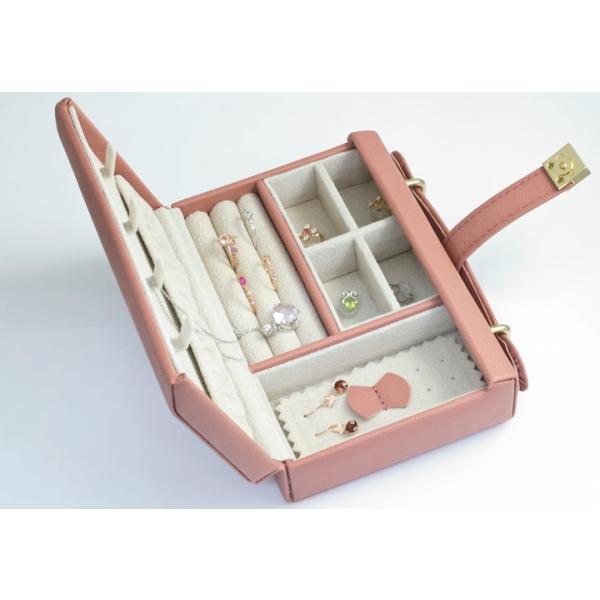 ジュエリーボックス 宝石箱 バッグ型 ジュエリーケース 旅行用 トラベル 携帯用 持ち運び アクセサリーケース ネックレス 収納 プレゼント 女友達 ギフト b-ciao 06