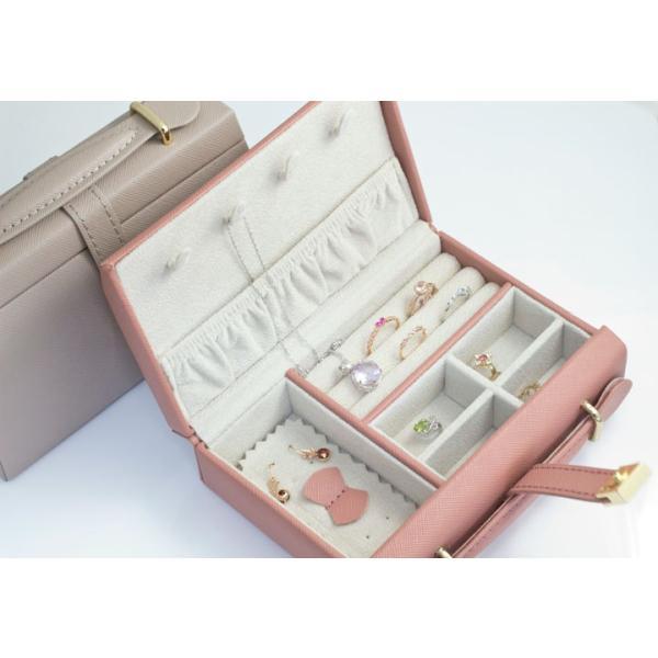 ジュエリーボックス 宝石箱 バッグ型 ジュエリーケース 旅行用 トラベル 携帯用 持ち運び アクセサリーケース ネックレス 収納 プレゼント 女友達 ギフト b-ciao 07