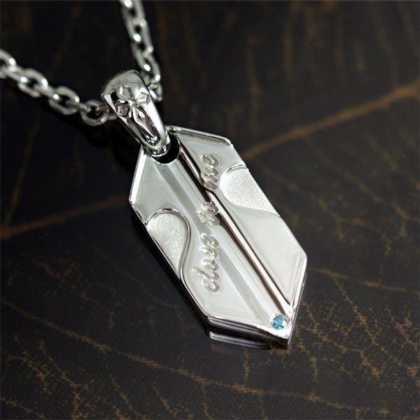 ネックレス レディース closetome 永遠の矢 ブルーダイヤモンド Lady's レディース チェーン40cm b-ciao