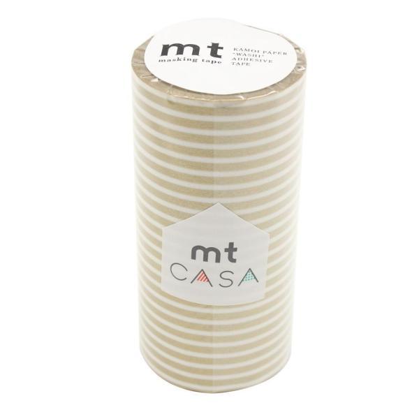 mt CASA マスキングテープ 100mm ボーダー・金 MTCA1111