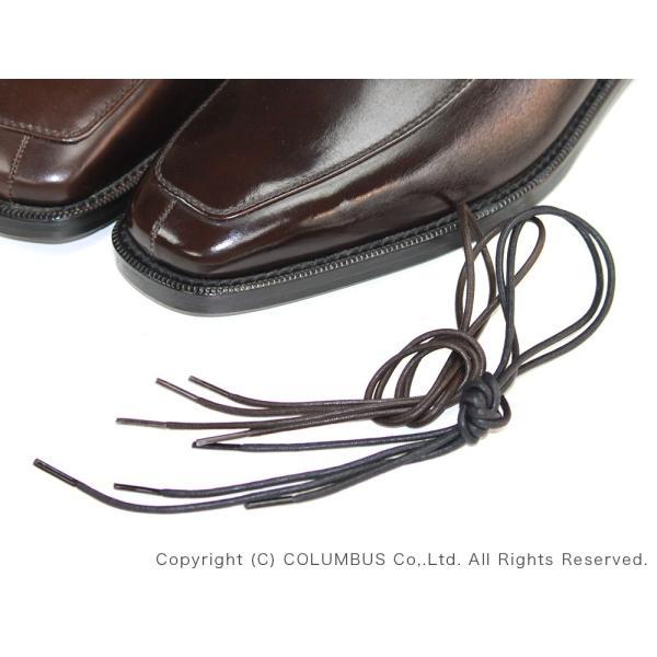 靴ひも コロンブス COLUMBUS シューレース ロー引き (55cm) 1足分(2本入り)