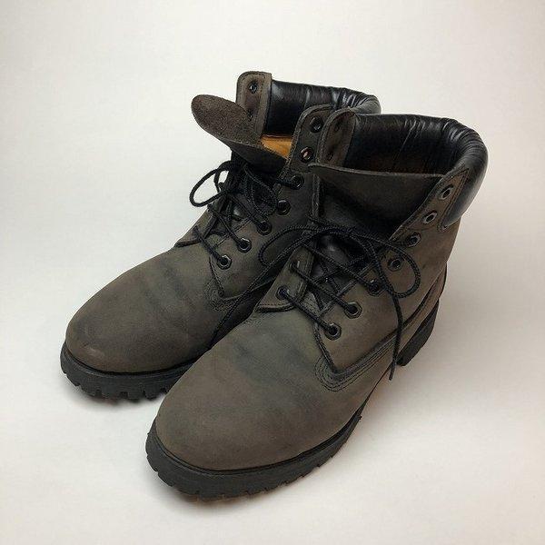 メンズ 靴 TIMBERLAND ティンバーランド ワーク ブーツ グレー イエローブーツ 中古|b-living