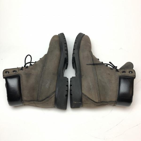 メンズ 靴 TIMBERLAND ティンバーランド ワーク ブーツ グレー イエローブーツ 中古|b-living|02