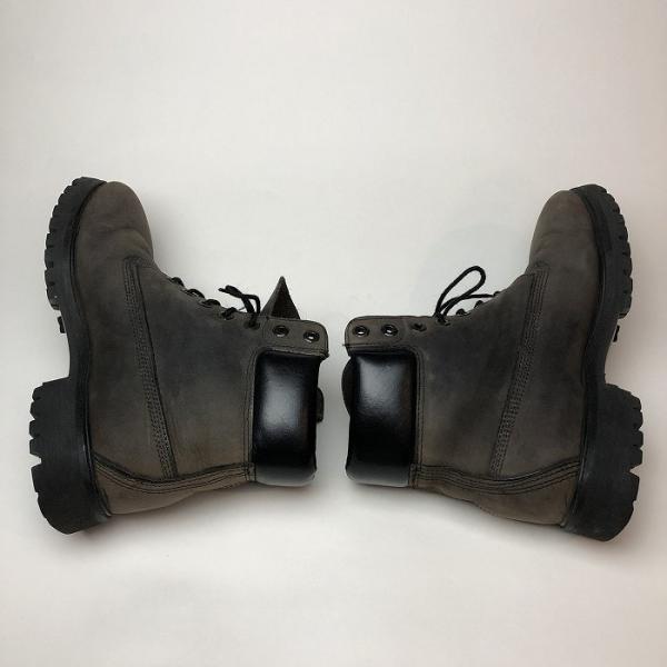 メンズ 靴 TIMBERLAND ティンバーランド ワーク ブーツ グレー イエローブーツ 中古|b-living|03