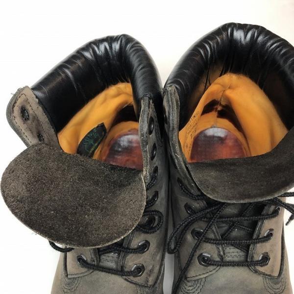 メンズ 靴 TIMBERLAND ティンバーランド ワーク ブーツ グレー イエローブーツ 中古|b-living|04