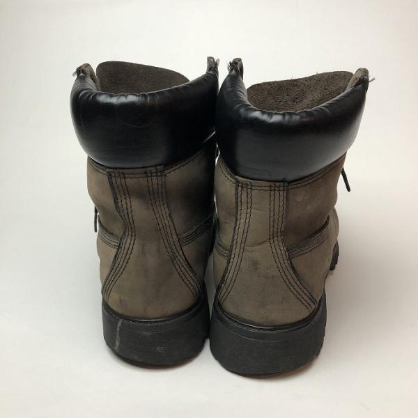 メンズ 靴 TIMBERLAND ティンバーランド ワーク ブーツ グレー イエローブーツ 中古|b-living|05