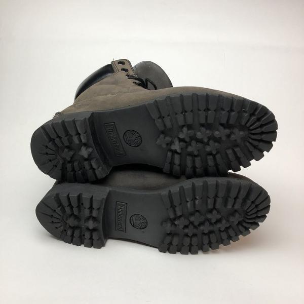 メンズ 靴 TIMBERLAND ティンバーランド ワーク ブーツ グレー イエローブーツ 中古|b-living|06