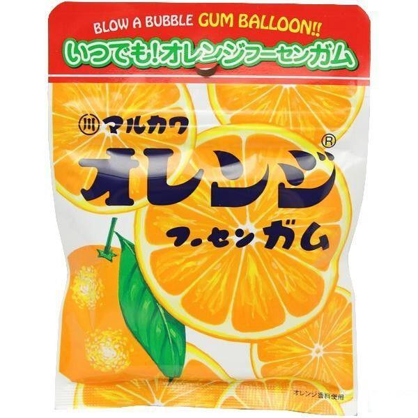 ネコポス送料無料★丸川製菓 オレンジフーセンガム 47g x2個セット ★ ペイペイ消化