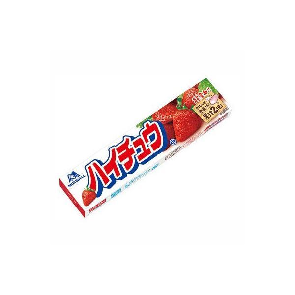 ネコポス  送料無料  ★森永製菓 ハイチュウ いちご 12粒 5個セット★ ポイント 消化
