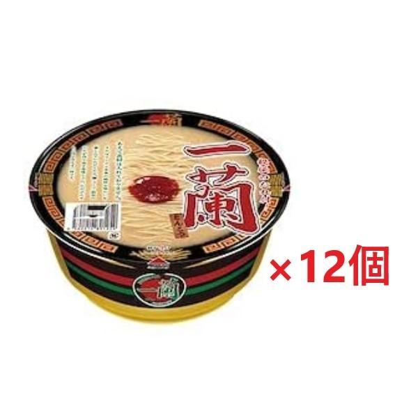 宅急便発送 一蘭 カップラーメン 1ケース分(12個セット) とんこつ 秘伝のたれ付