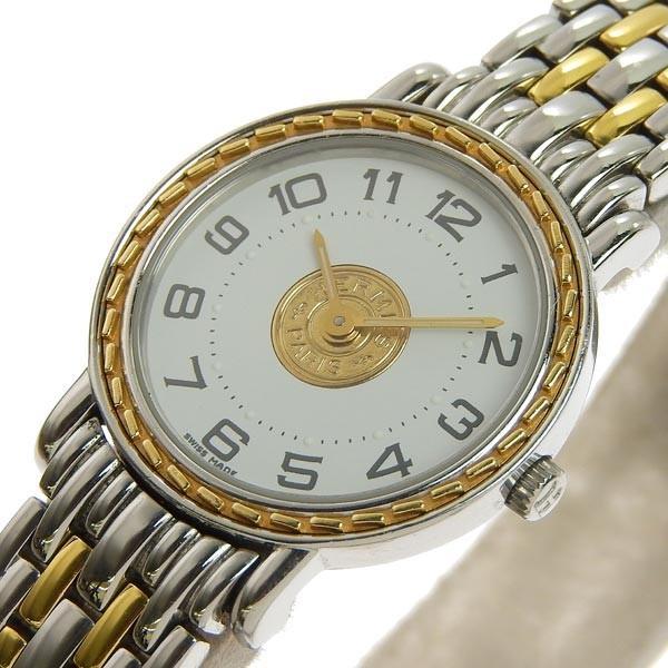 buy popular e2c6c b355b 03楽市 腕時計 本物 腕時計 HERMES エルメス セリエ ウォッチ ...