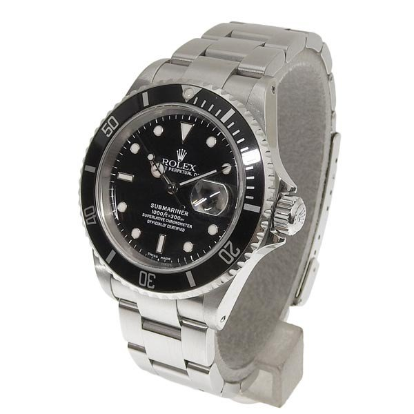 B楽市本店 本物 ROLEX ロレックス サブマリーナデイト メンズ オートマ 腕時計 16610 P番|b-rakuichi|02