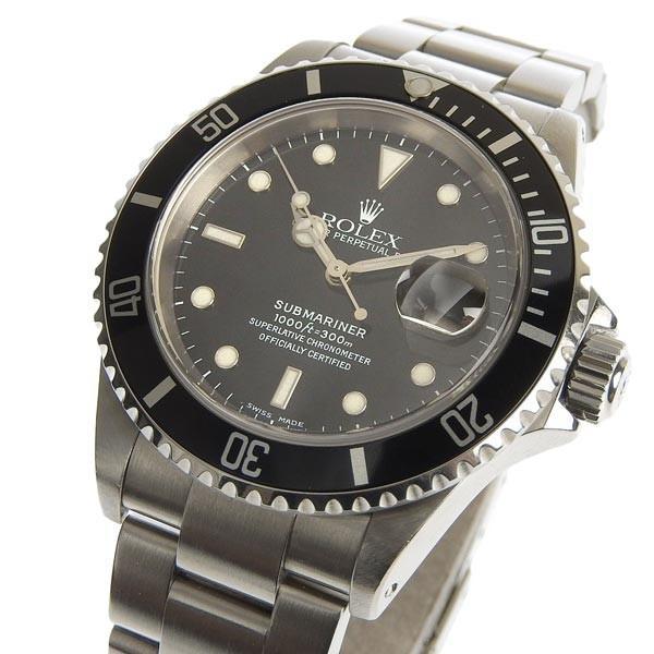B楽市本店 本物 ROLEX ロレックス サブマリーナデイト メンズ オートマ 腕時計 16610 P番|b-rakuichi|03